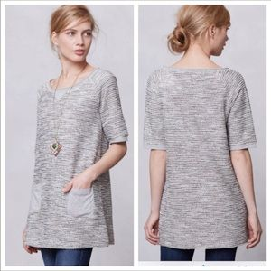 Anthropologie-Meadow Rue-Shimmered Boucle Tunic